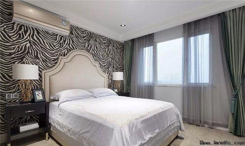 124m²轻奢美式三居,恬静灰蓝基调,芬芳甜美,温馨实用!