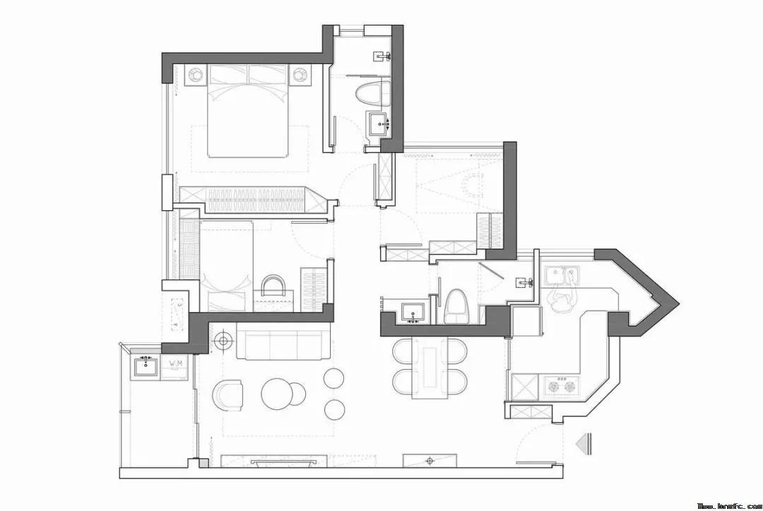 90平米现代简约装修,现代简约装修,90平米装修案例