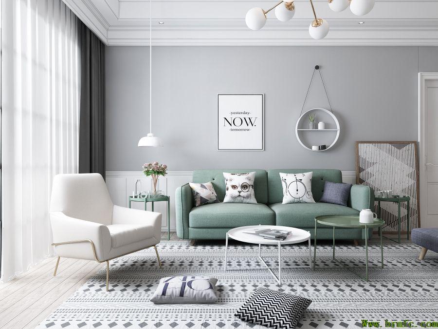 如何装修这个109平方米的三居室,北欧风格是选对了的!